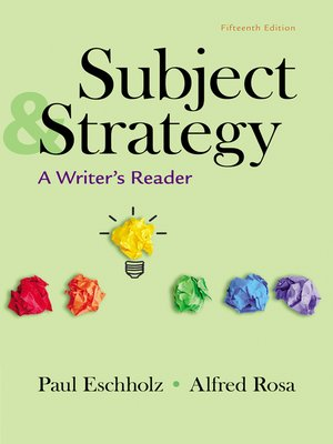 cover image of Subject and Strategy