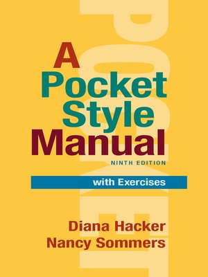 cover image of A Pocket Style Manual with Exercises