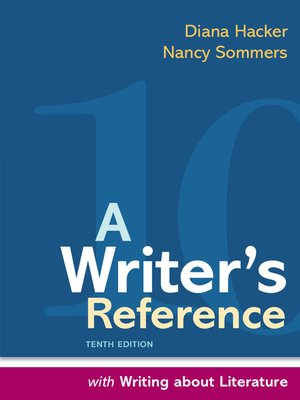 cover image of A Writer's Reference with Writing about Literature