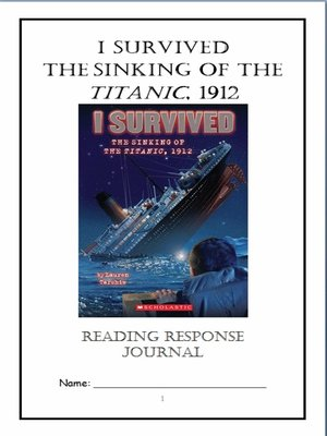 cover image of I Survived the Sinking of the Titanic, 1912 (Tarshis) Novel Study / Reading Comprehension Journal