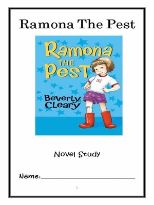 cover image of Ramona the Pest (Beverly Cleary) Novel Study / Reading Comprehension Journal