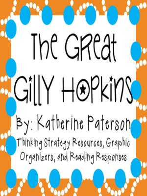 cover image of The Great Gilly Hopkins by Katherine Paterson