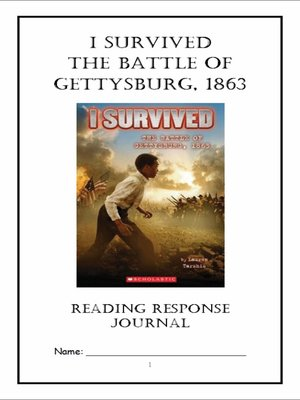 cover image of I Survived the Battle of Gettysburg, 1863 (Tarshis) Novel Study / Reading Comprehension Journal