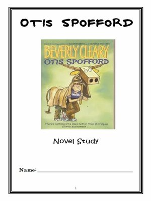 cover image of Otis Spofford (Beverly Cleary) Novel Study / Reading Comprehension Journal