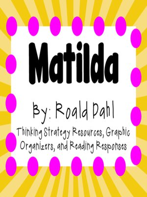 cover image of Matilda by Roald Dahl