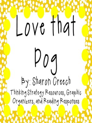 cover image of Love that Dog by Sharon Creech