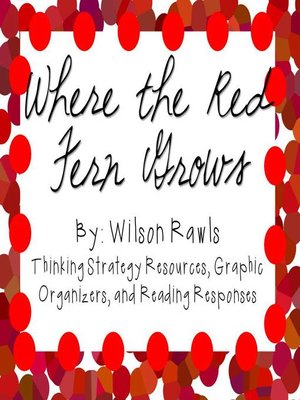 cover image of Where the Red Fern Grows by Wilson Rawls