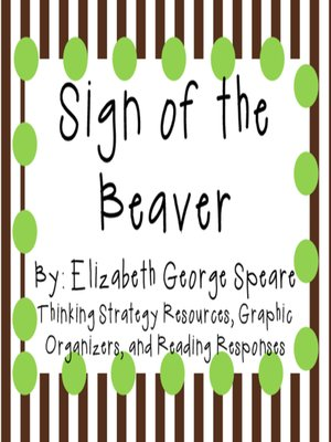 cover image of Sign of the Beaver by Elizabeth George Speare
