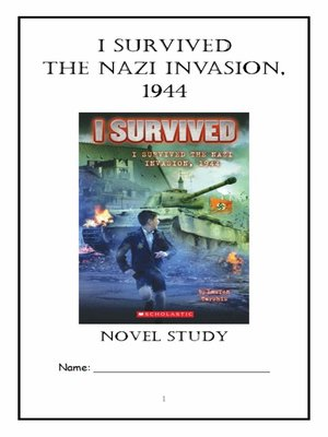 cover image of I Survived the Nazi Invasion, 1944 (Lauren Tarshis) Novel Study / Comprehension Journal