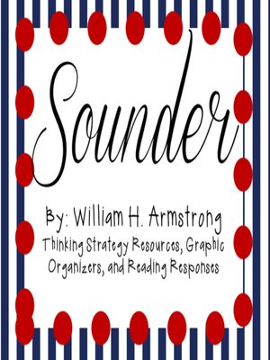 cover image of Sounder by William H. Armstrong