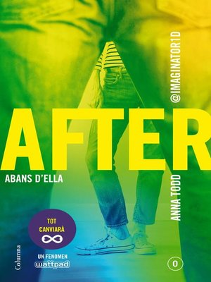 cover image of After. Abans d'ella (Sèrie After 0) (Edició en català)