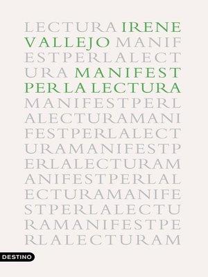 cover image of Manifest per la lectura