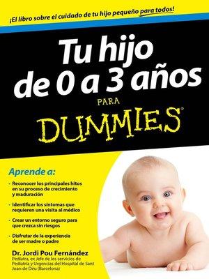 cover image of Tu hijo de 0 a 3 años para Dummies