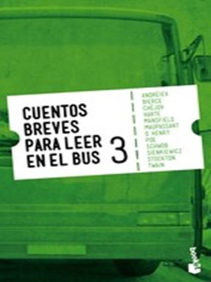 cover image of Cuentos breves para leer en el bus 3