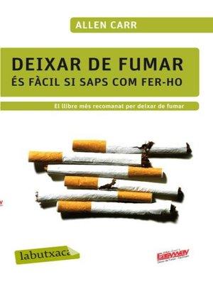 cover image of Deixar de fumar és fàcil si saps com fer-ho
