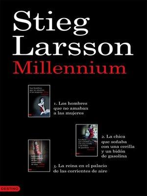 cover image of Trilogía Millennium (pack)