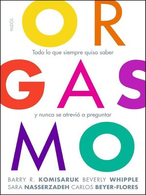 cover image of Orgasmo