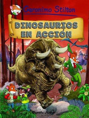 cover image of Dinosaurios en acción