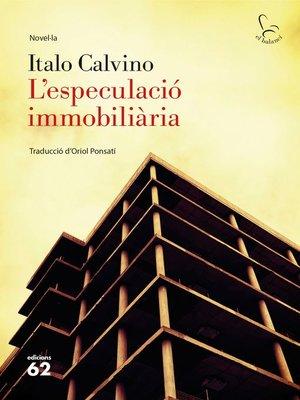 cover image of L'especulació immobiliària