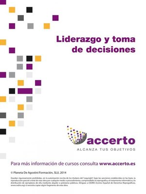 cover image of Liderazgo y toma de decisiones