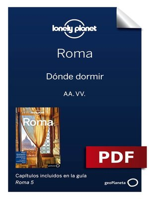 cover image of Roma 5. Dónde dormir