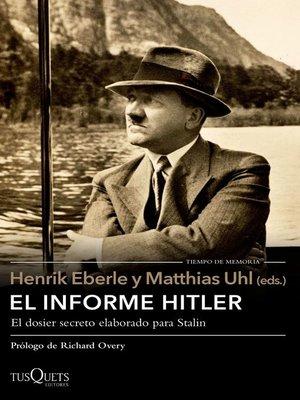 cover image of El informe Hitler