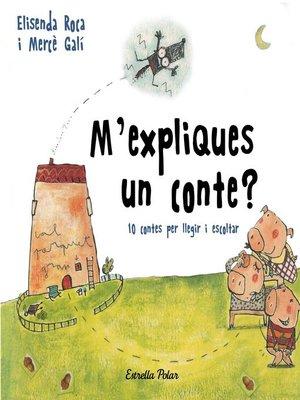 cover image of M'expliques un conte?