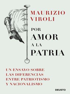 cover image of Por amor a la patria