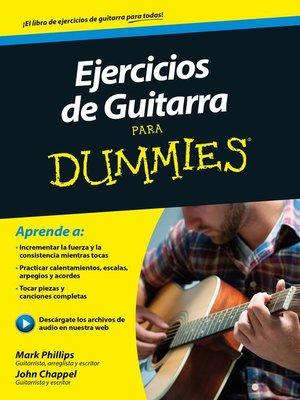cover image of Ejercicios de guitarra para Dummies