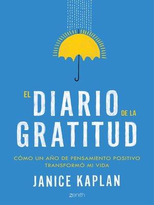 cover image of El diario de la gratitud