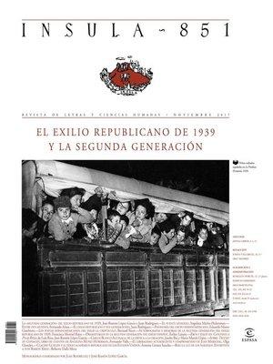cover image of El exilio republicano de 1939 y la segunda generación