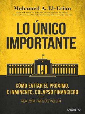 cover image of Lo único importante
