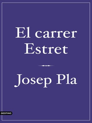 cover image of El carrer Estret