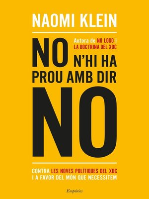 cover image of No n'hi ha prou amb dir no