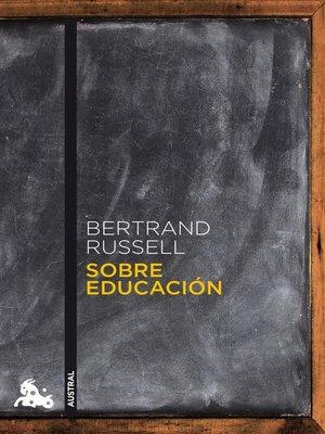 cover image of Sobre educación