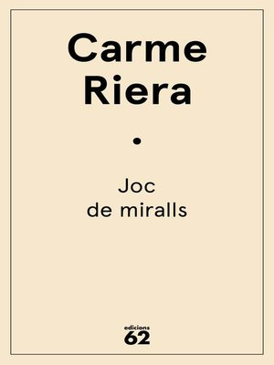 cover image of Joc de miralls