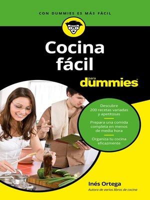 Cocina f cil para dummies by in s ortega overdrive - Videos cocina facil ...