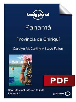cover image of Panamá 1_7. Provincia de Chiriquí