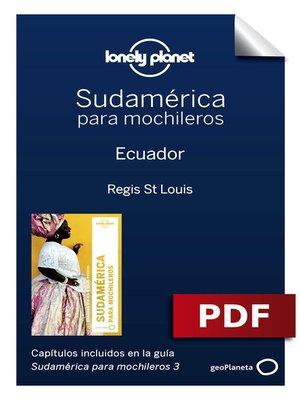 cover image of Sudamérica para mochileros 3. Ecuador