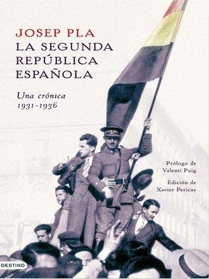 cover image of La Segunda República española