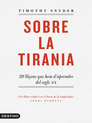 cover image of Sobre la tirania