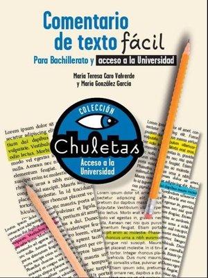 cover image of Comentario de texto fácil para Bachillerato
