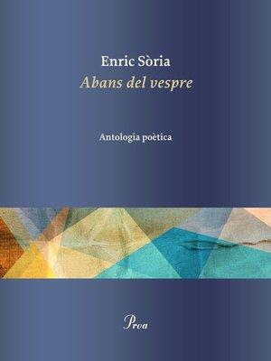 cover image of Abans del vespre