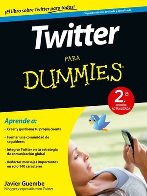 cover image of Twitter para Dummies--2ª ed.