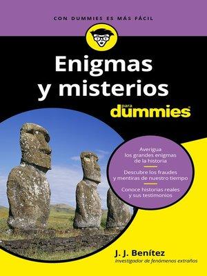 cover image of Enigmas y misterios para Dummies