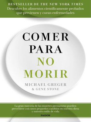 cover image of Comer para no morir