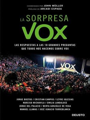 cover image of La sorpresa Vox