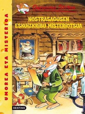 cover image of Nostrasagusen eskuizkribu misteriotsua