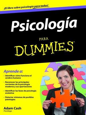 cover image of Psicología Para Dummies