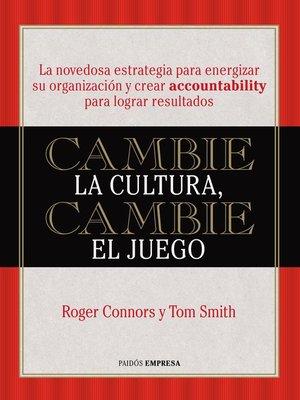 cover image of Cambie la cultura, cambie el juego